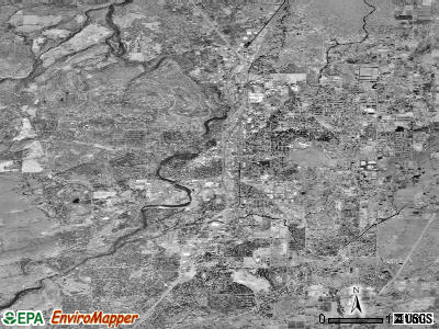 Bend satellite photo by USGS