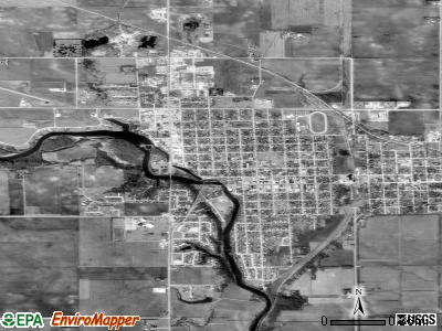 Tuscola satellite photo by USGS