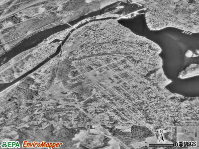 Turners Falls satellite photo by USGS