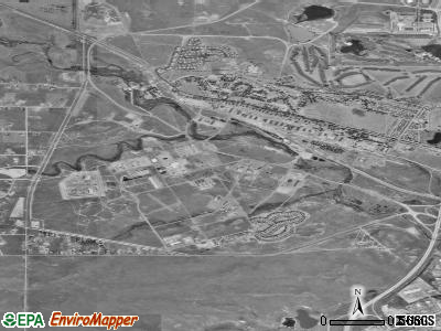 Warren AFB satellite photo by USGS