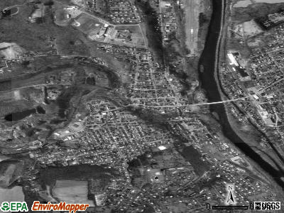 Slatington satellite photo by USGS