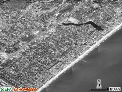 Surfside Beach satellite photo by USGS