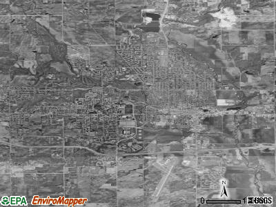 Ames satellite photo by USGS