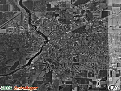 Idaho Falls satellite photo by USGS