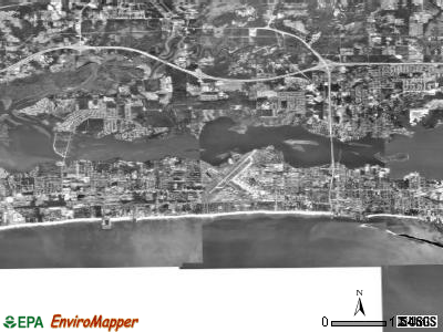 Biloxi satellite photo by USGS