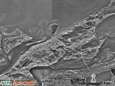 Chincoteague satellite photo by USGS