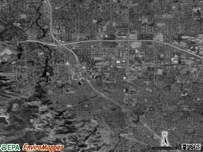 Cupertino satellite photo by USGS