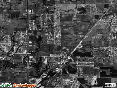 Red Oak satellite photo by USGS
