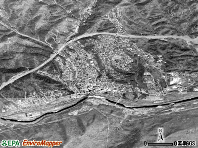 Clifton Forge satellite photo by USGS