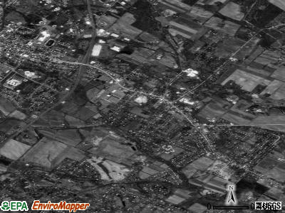 Gilbertsville satellite photo by USGS