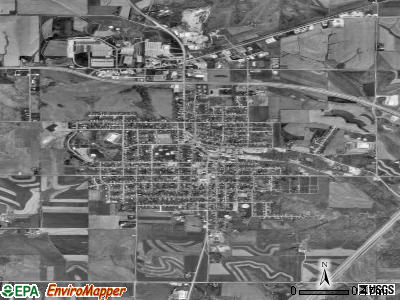 Dodgeville satellite photo by USGS