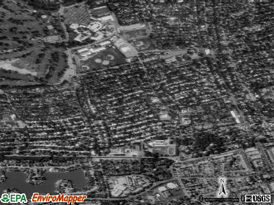 Lincoln Village satellite photo by USGS