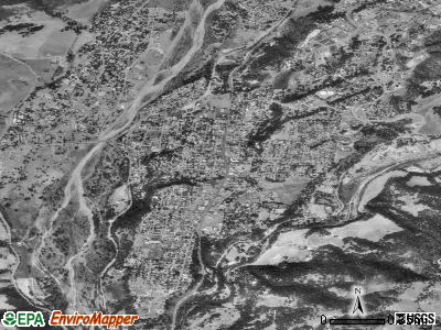 Oak View satellite photo by USGS