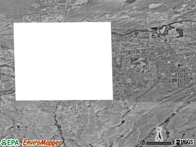 Casper satellite photo by USGS
