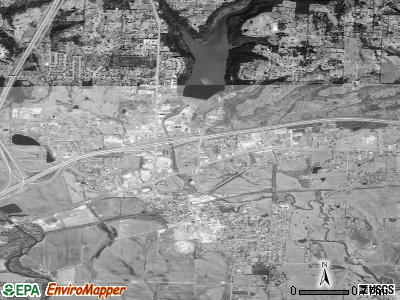 Eldridge satellite photo by USGS