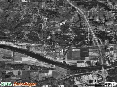 Edwardsville satellite photo by USGS