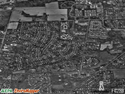 Village Shires satellite photo by USGS