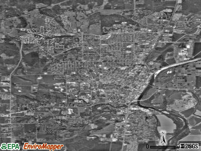 Corvallis satellite photo by USGS