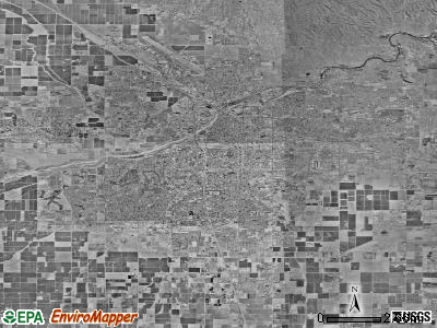 Bakersfield satellite photo by USGS