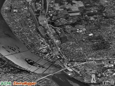 Harrisburg satellite photo by USGS