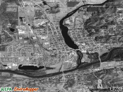 Lowell satellite photo by USGS