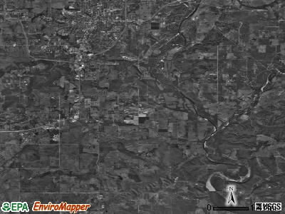 Park Hill satellite photo by USGS