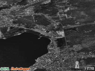 Tupper Lake satellite photo by USGS
