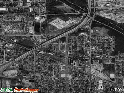 Dixmoor satellite photo by USGS