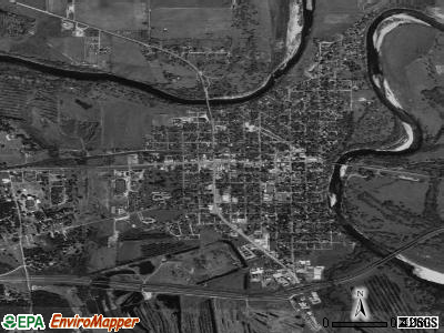 Columbus satellite photo by USGS