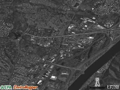 Menands satellite photo by USGS