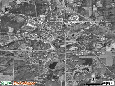 Slinger satellite photo by USGS
