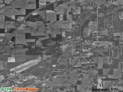 Pendleton satellite photo by USGS