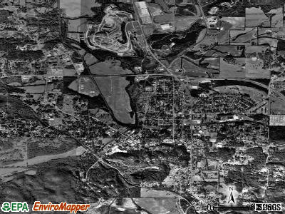 Rockmart satellite photo by USGS