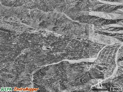 Wrightwood satellite photo by USGS