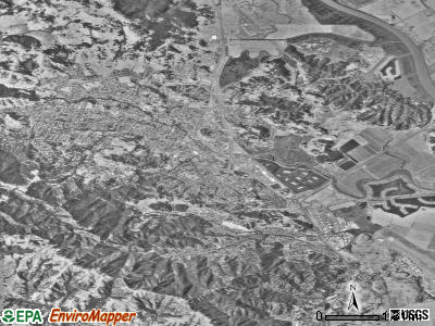 Novato satellite photo by USGS