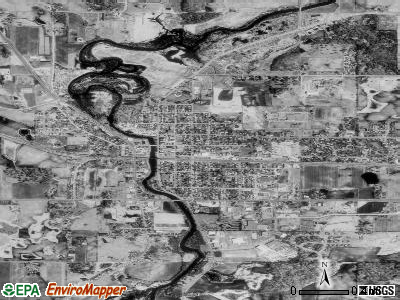 Delano satellite photo by USGS