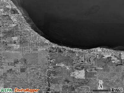 Houghton Lake satellite photo by USGS