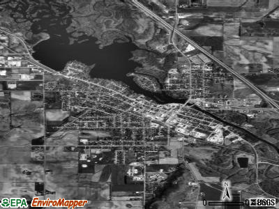 Mauston satellite photo by USGS