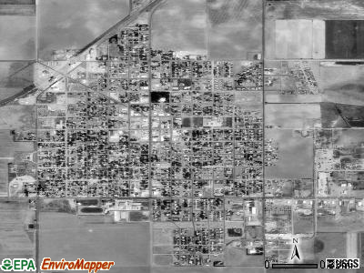 Hugoton satellite photo by USGS