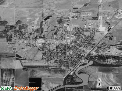 Corning satellite photo by USGS