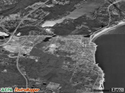 Narragansett Pier satellite photo by USGS