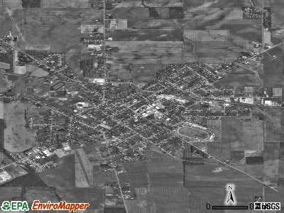Hicksville satellite photo by USGS