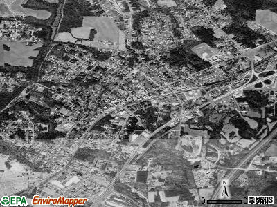 China Grove satellite photo by USGS