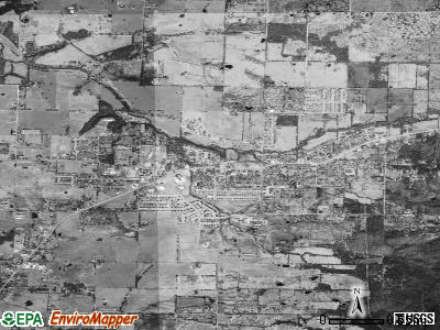 Farmington satellite photo by USGS