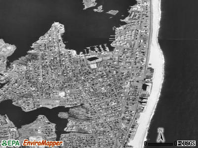 Monmouth Beach satellite photo by USGS
