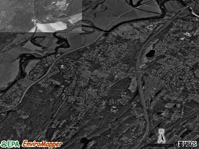 Hurley satellite photo by USGS