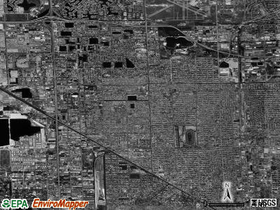 Hialeah satellite photo by USGS