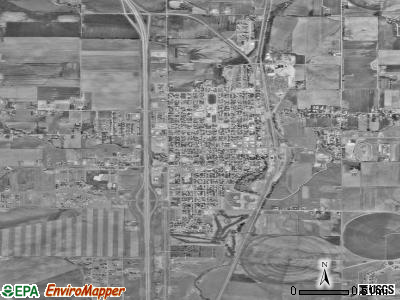 Wheatland satellite photo by USGS