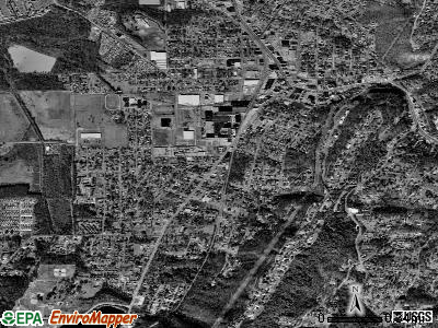 Rossville satellite photo by USGS