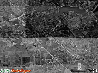 League City satellite photo by USGS